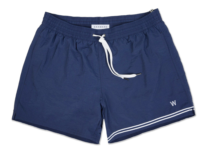 Dan Ward Lightweight Embroidered Logo Swim Shorts