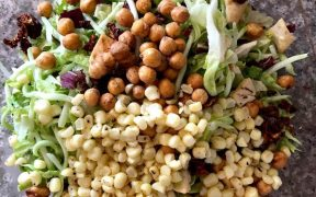 1527896324 602 trader joes hack cauliflower gnocchi with basil and parmesan and mediterranean style salad with crunchy ranch chickpeas and corn a 20 minute meal makeup and beauty blog 1