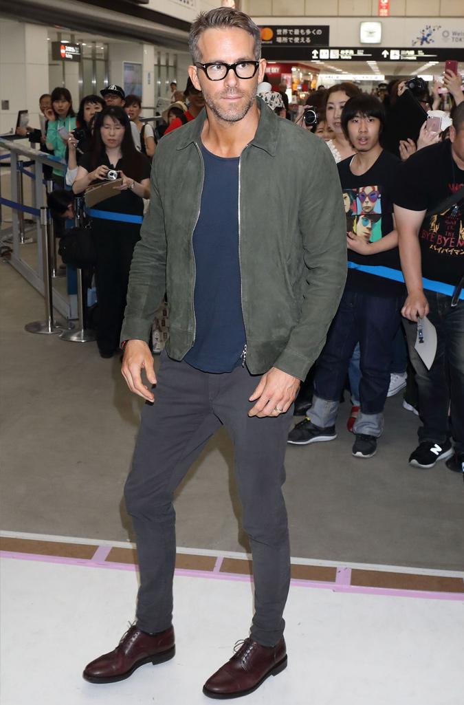 The Best-Dressed Men Of The Week - Ryan Reynolds at Narita International Airport, Japan