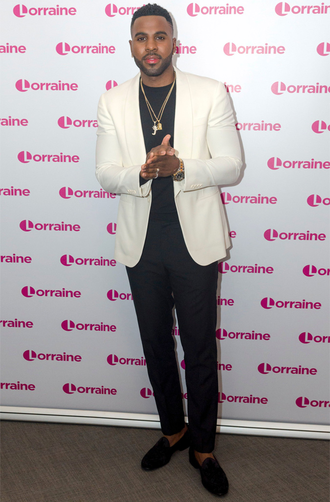 The Best-Dressed Men Of The Week - Jason Derulo at Lorraine TV show London