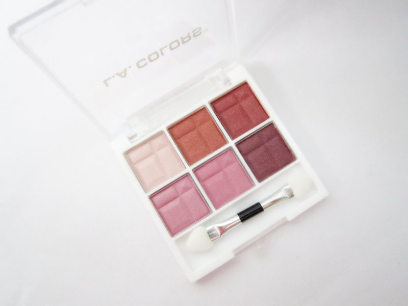 L.A. Colors 6 Color Eyeshadow Palette Delicate Shades