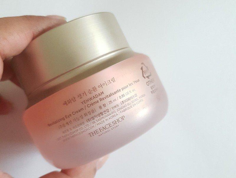 The Face Shop Yehwadam Revitalizing Eye Cream packaging