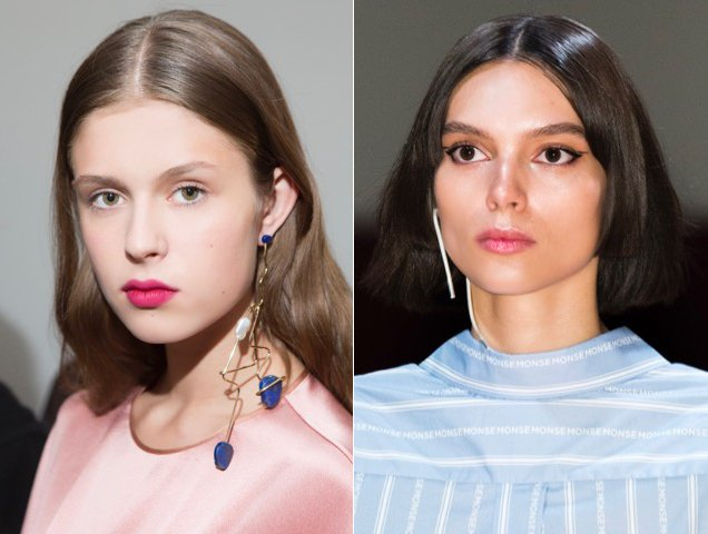 Extended danglers also popped up on the Spring 2018 RTW runways.
