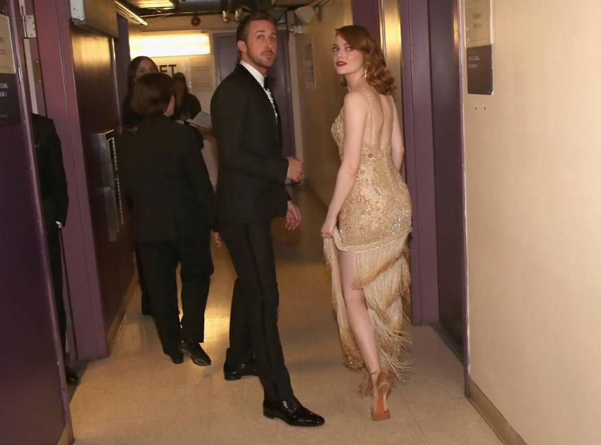 Emma Stone, Ryan Gosling, 2017 Oscars, Academy Awards, Candid