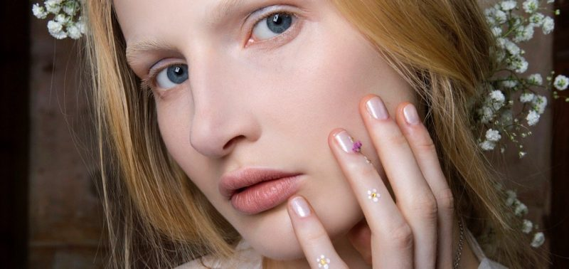 rodarte spring beauty neutral nails flower nail art hands Marquee landscape cropped