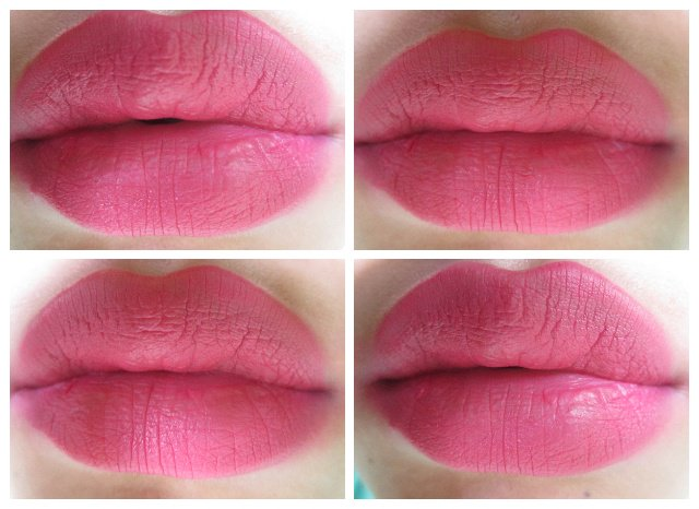 Lakme Absolute Matte Melt Liquid Lip Color Pink Poison on lips