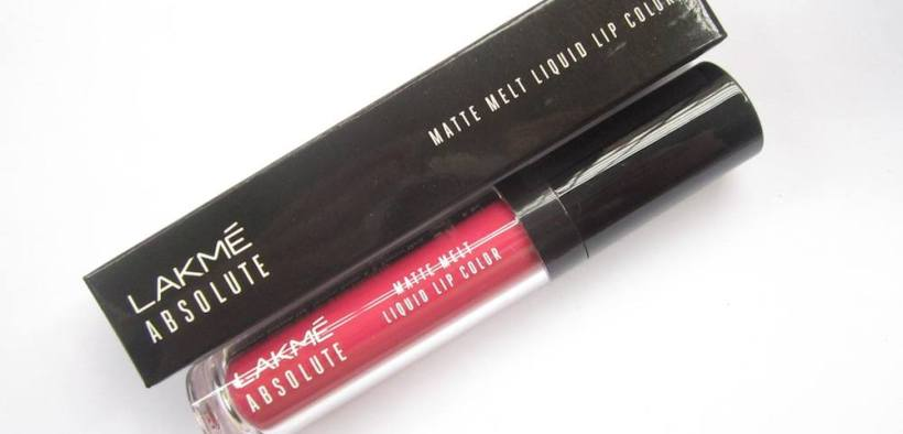 Lakme Absolute Matte Melt Liquid Lip Color Pink Poison Review