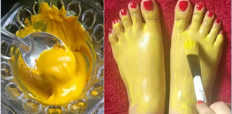 tan feet paste