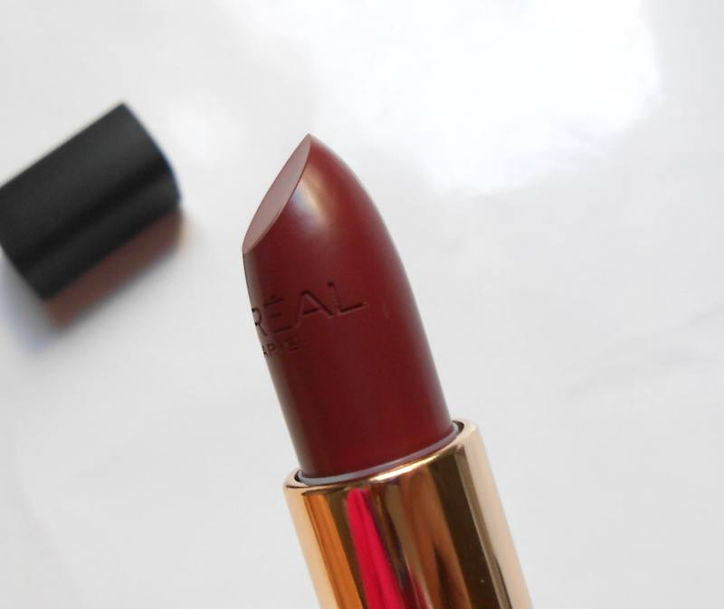 Loreal Color Riche Matte Lipstick Rosewood Forest shape of the bullet