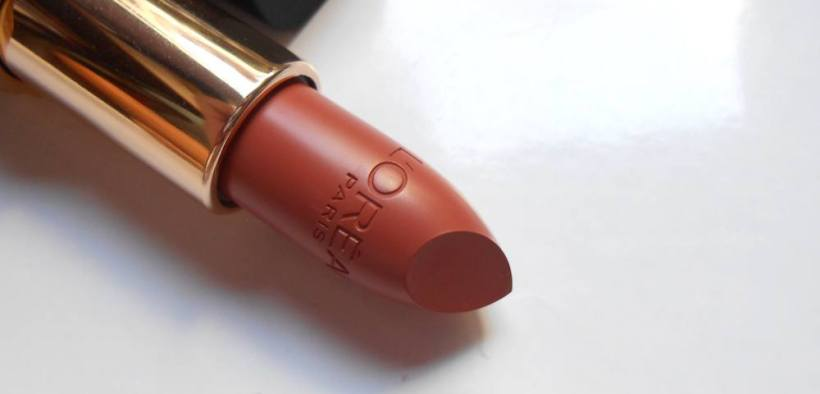 Loreal Color Riche Matte Lipstick Flatter Me Nude Review