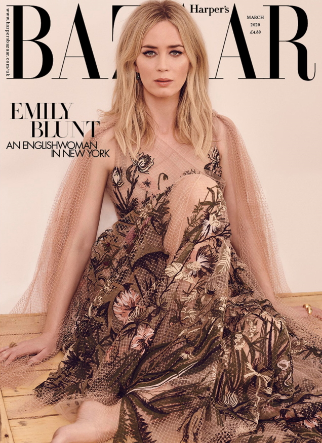 UK Harper's Bazaar March 2020 : Emily Blunt by Pamela Hanson