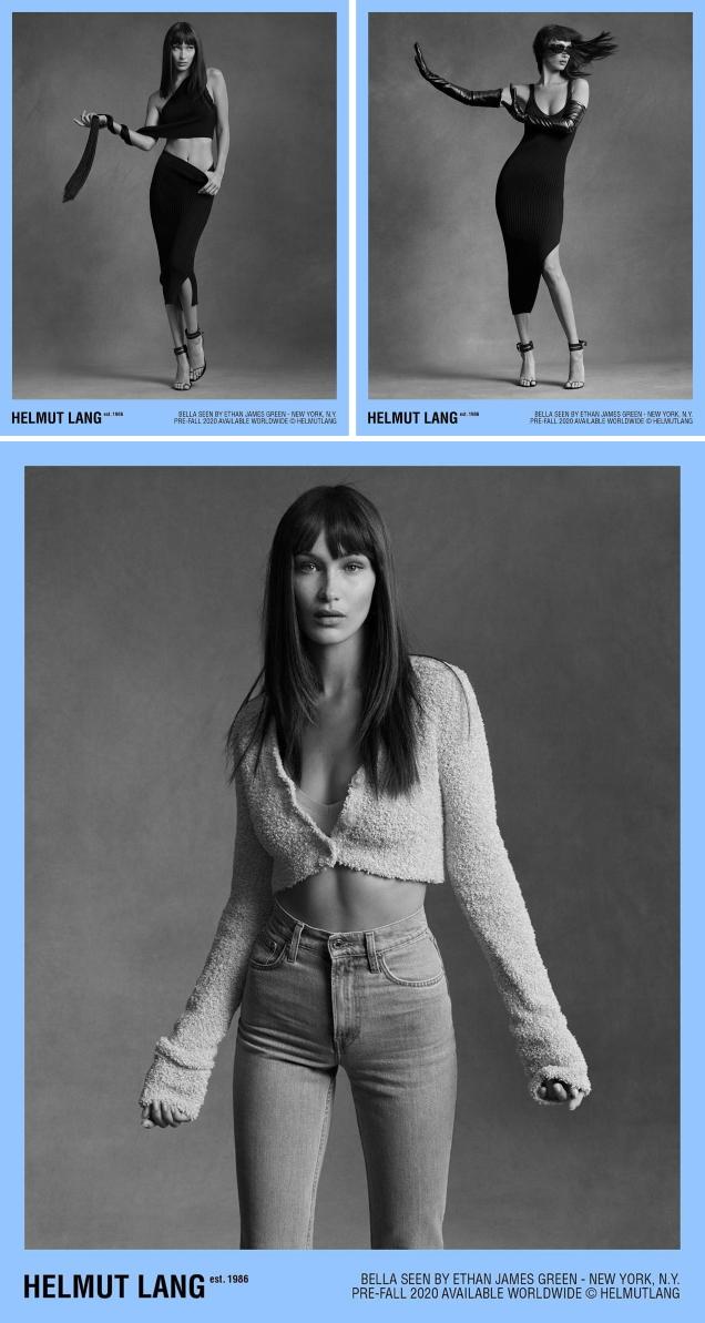 Helmut Lang Pre-Fall 2020 : Bella Hadid by Ethan James Green