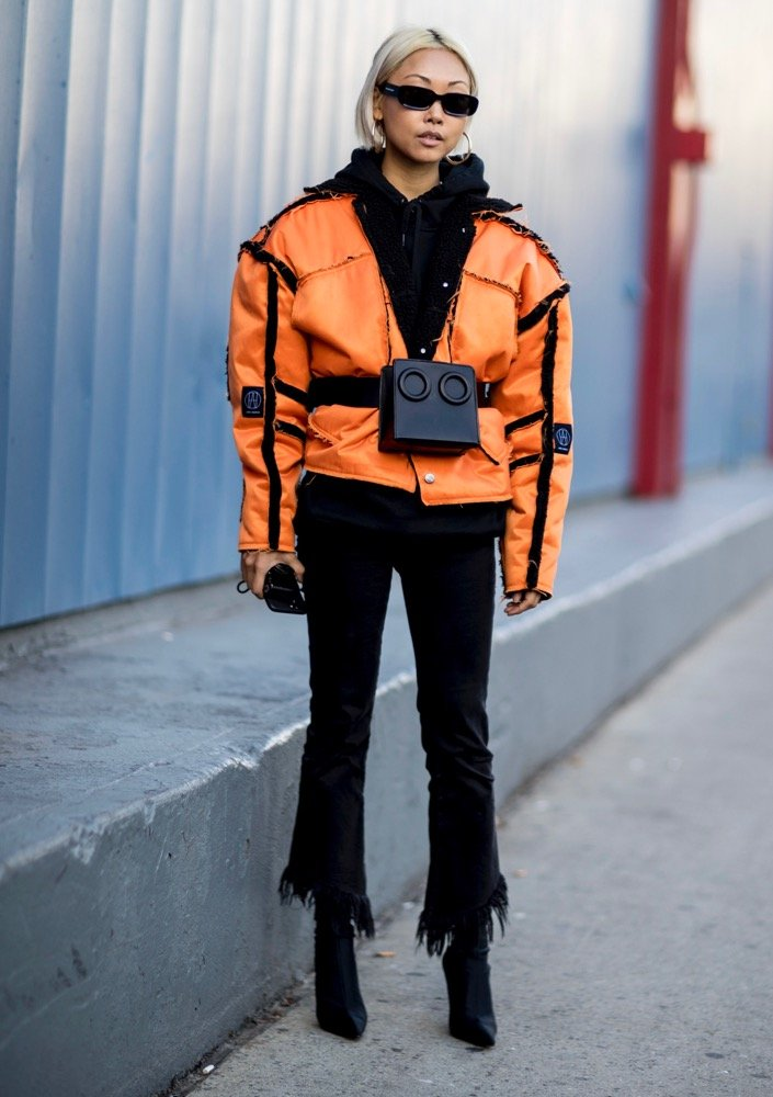 Secure all those layers with a belt bag.