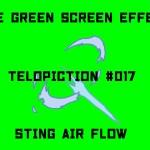 "【No.017】 ""Sting air flow"" 刺さる気流/フリー素材/グリーンスクリーン/Free Green Screen Effects"