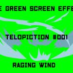 "【No.001】 ""Raging wind"" 吹き荒れる風/フリー素材/グリーンスクリーン/Free Green Screen Effects"