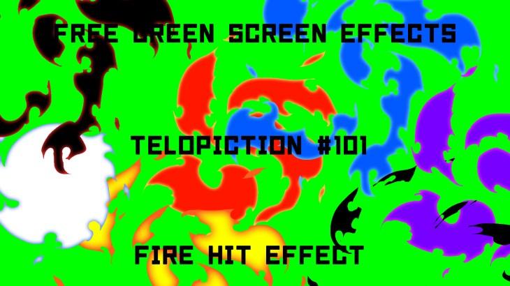 "【No.101】""Fire Hit Effect"" 炎のヒットエフェクト/フリー素材/グリーンスクリーン/Free Green Screen Effects"