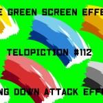 "【No.112】""Swing_down_attack_effect"" 振り下ろし攻撃エフェクト/フリー素材/グリーンスクリーン/Free Green Screen Effects"