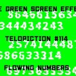 "【No.114】""Flowing numbers"" 流れる数字/フリー素材/グリーンスクリーン/Free Green Screen Effects"