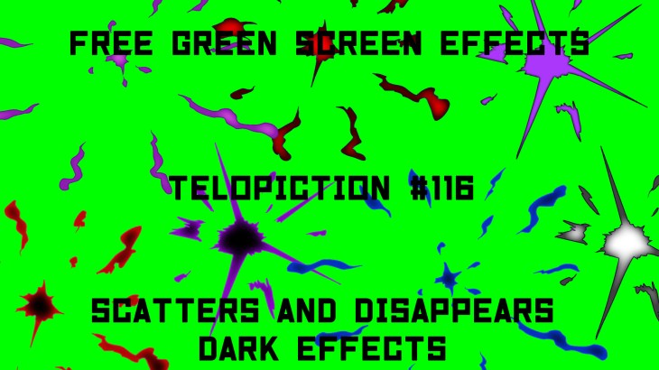 """【No.116】""""Scatters and disappears dark effects"""" 散って消える闇/フリー素材/グリーンスクリーン/Free Green Screen Effects"""