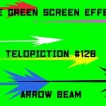 "【No.128】""Arrow beam"" 矢印型のビーム/フリー素材/グリーンスクリーン/Free Green Screen Effects"