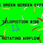 "【No.136】""Rotating airflow"" 回って散る気流/フリー素材/グリーンスクリーン/Free Green Screen Effects"