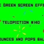 "【No.140】""Bounces and pops ball"" バウンドしてはじけるボール/フリー素材/グリーンスクリーン/Free Green Screen Effects"