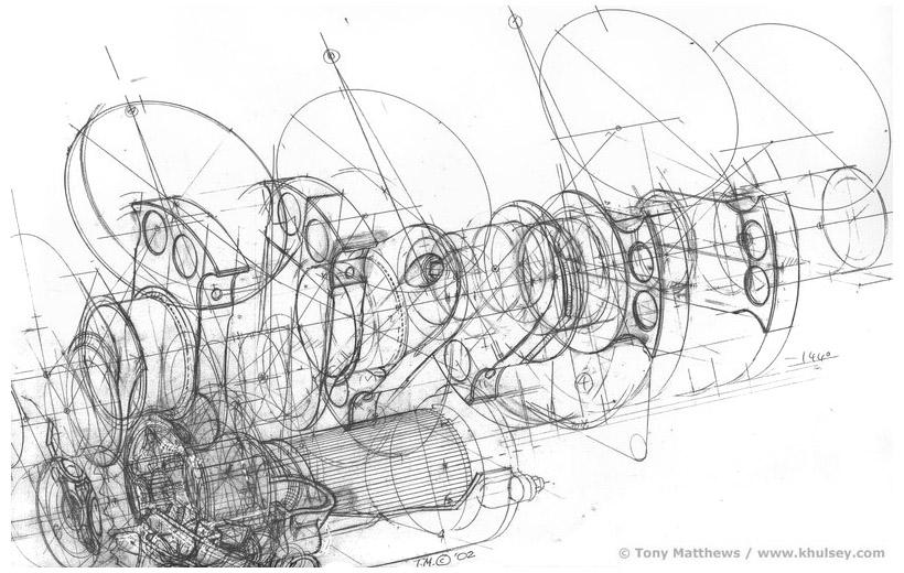 Car Motor Sketch, Car, Free Engine Image For User Manual