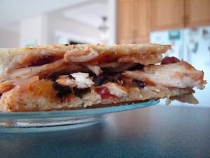 Brie-Mango Chutney & Chicken Panini   bsinthekitchen.com #panini #sandwich #bsinthekitchen