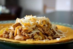 Roasted Corn & Chicken Grilled Wrap | bsinthekitchen.com