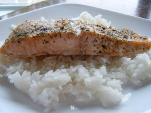 Sea Salt Honey Salmon | bsinthekitchen.com