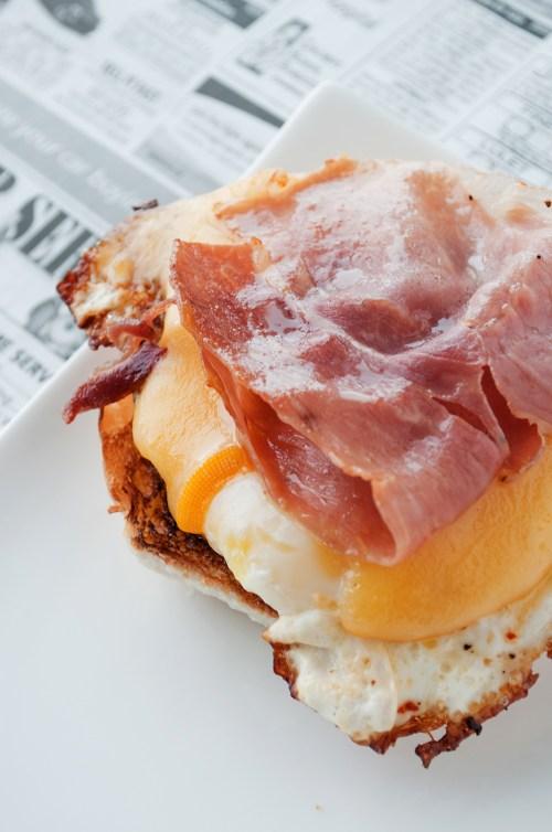 Bs Recipes Candy Corn M M Blondies: Prosciutto & Smoked Gouda Egg Sandwich