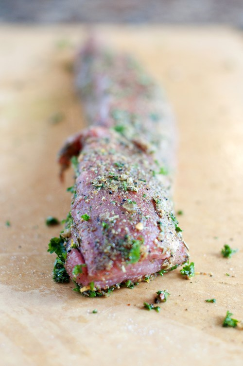 Herb Rubbed Pork Loin | bsinthekitchen.com #pork #dinner #bsinthekitchen