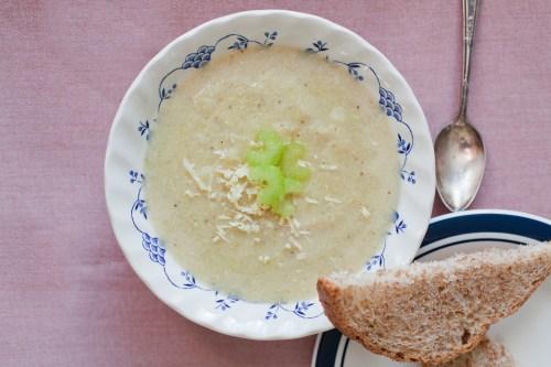 Celery Soup | bsinthekitchen.com #soup #vegan #bsinthekitchen