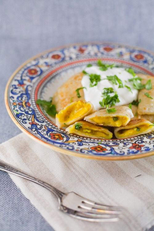 Curry Perogies   bsinthekitchen.com #perogies #dinner #bsinthekitchen