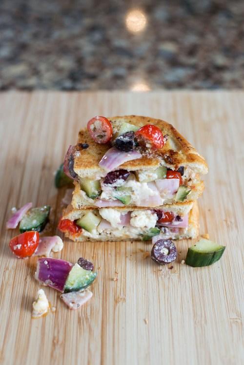 The Greek Grilled Cheese | bsinthekitchen.com #grilledcheese #sandwich #bsinthekitchen