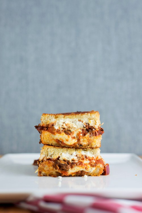 The Lasagna Grilled Cheese | bsinthekitchen.com #grilledcheese #lasagna #bsinthekitchen
