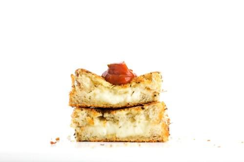 Mozzarella Stick Grilled Cheese | bsinthekitchen.com #grilledcheese #sandwich #bsinthekitchen