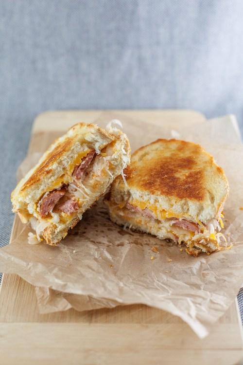 The German Grilled Cheese | bsinthekitchen.com #grilledcheese #sandwich #bsinthekitchen