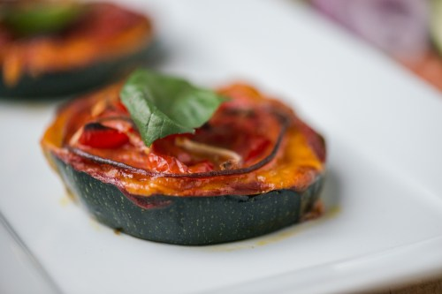 Zucchini Pepperoni Pizzas | bsinthekitchen.com #healthy #pizza #zucchini