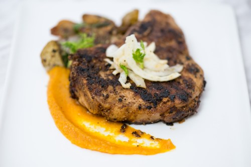 Fennel Crusted Pork Chop | bsinthekitchen.com #pork #dinner #bsinthekitchen