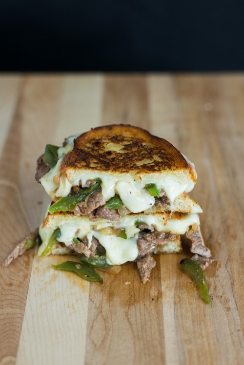 Philly Cheese Steak Grilled Cheese | bsinthekitchen.com #grilledcheese #sandwich #bsinthekitchen
