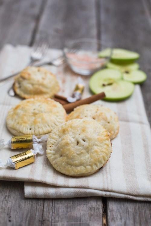 Salted Caramel Apple Hand Pies | bsinthekitchen.com #handpies #pies #applepie #bsinthekitchen