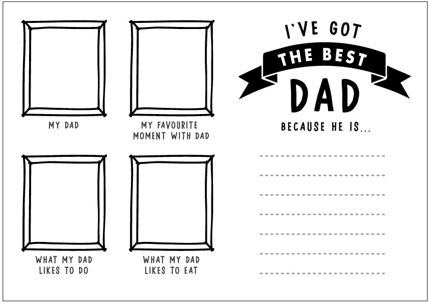 Free Super Dad Father's Day Printable