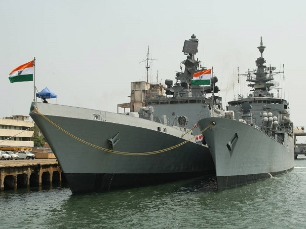 Stealth Frigate INS Shivalik and Brahmaputra class frigate INS Betwa at Chennai port to participate in Exercise Malabar