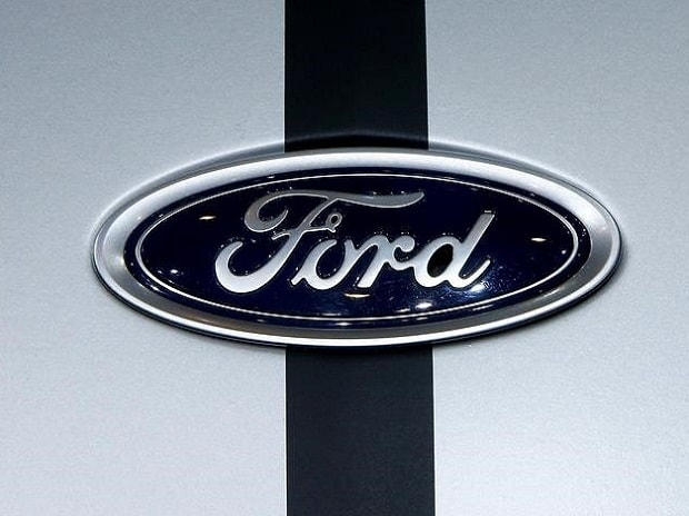 The logo of Ford is seen during the 87th International Motor Show at Palexpo in Geneva, Switzerland File photo:REUTERS