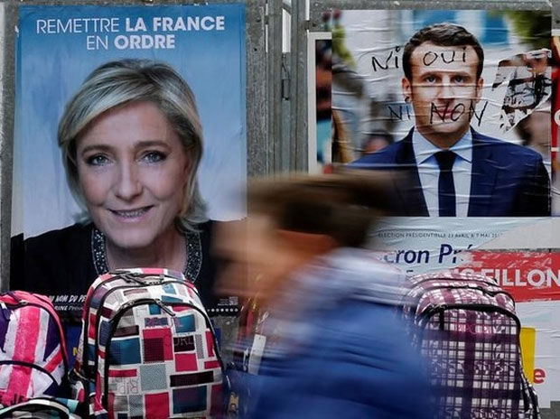Marine Le Pen, Emmanuel Macron, french election
