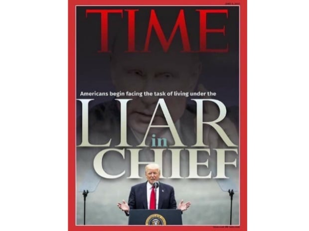 Time magazines cover calling Donald Trump Liar in Chief