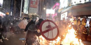 Clean-up begins in Hong Kong after week of chaos and destruction
