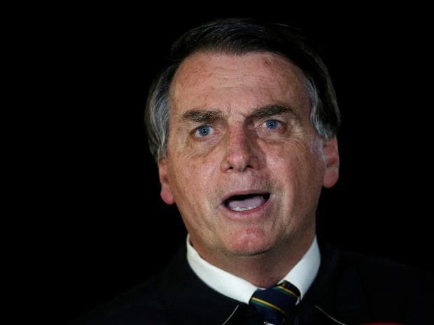 Brazil's president Bolsonaro says hydroxychloroquine to cure his virus
