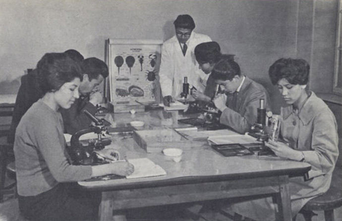 """Biology class, Kabul University."""